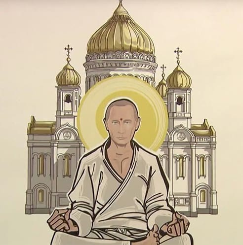 putin as buddha