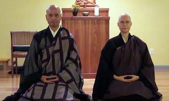 Shohaku Okumura and Hōkō Karnegis, via sanshinji.org