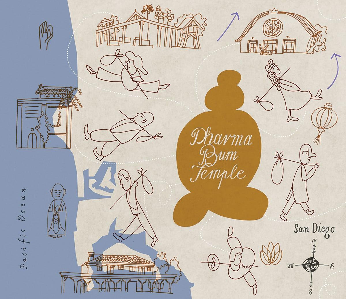 Dharma Bum Temple, Buddhadharma, Lion's Roar, Buddhism, San Diego