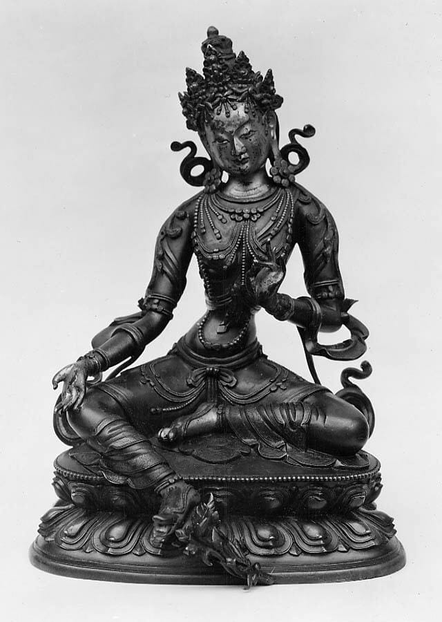 """Seated Green Tara,"" 17th–18th century. courtesy of The Metropolitan Museum of Art."