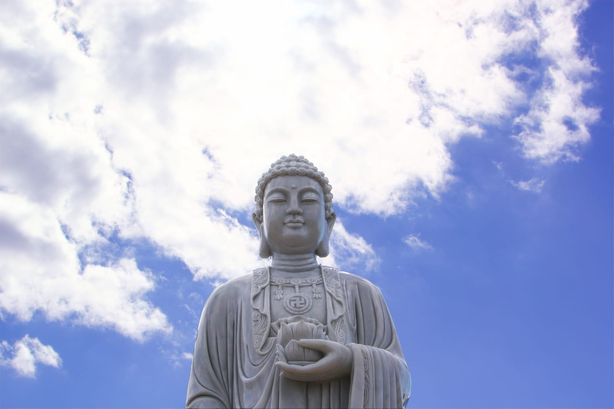 The new Buddha statue at Enfield Memorial Park.