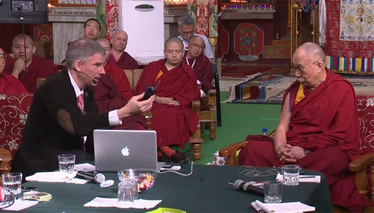 Christof Koch explains the neuroscientific view of consciousness to the Dalai Lama.