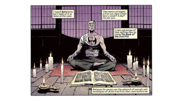 Iron Fist meditating.