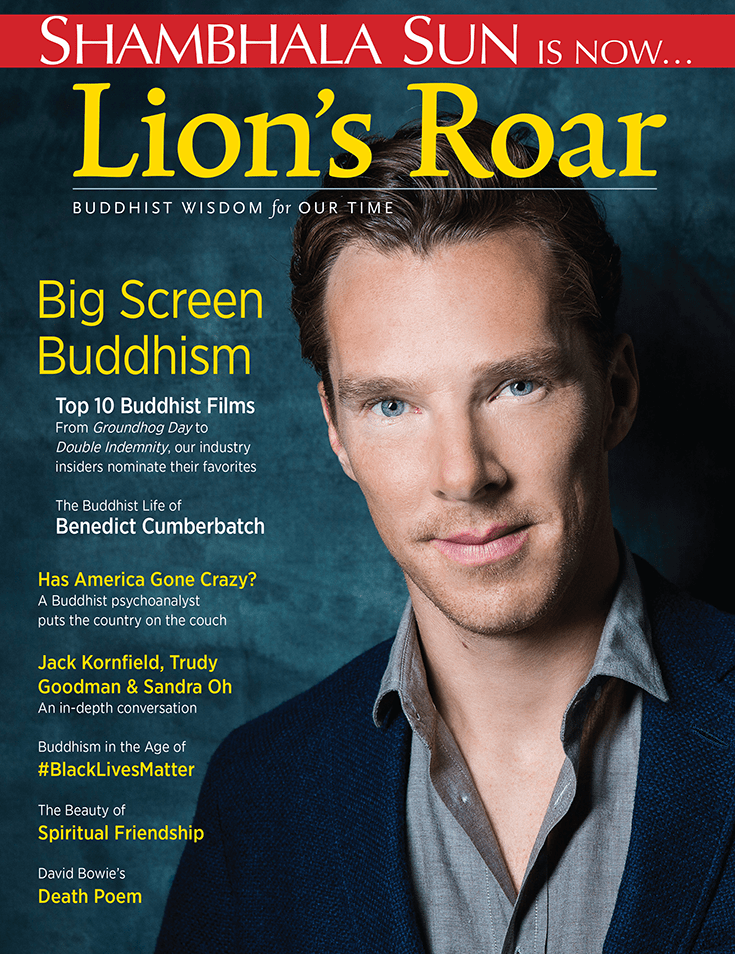 ctor Benedict Cumberbatch on the cover of the second issue of Lion's Roar.