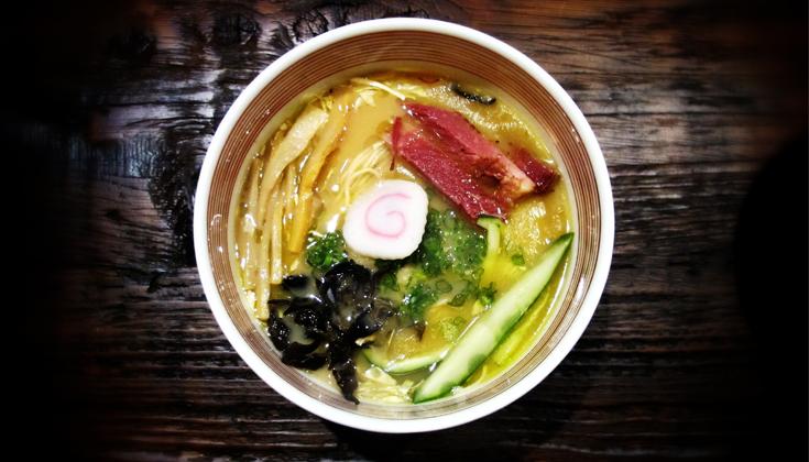 A bowl of ramen.