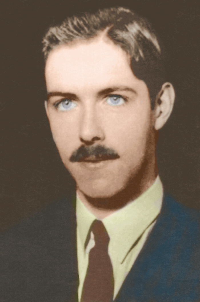 A portrait of Alan Watts from 1938.
