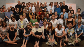 Attendees of last year's retreat with our guest teachers, Tsoknyi Rinpoche, Sylvia Boorstein, and Melissa Myozen Blacker, Roshi.