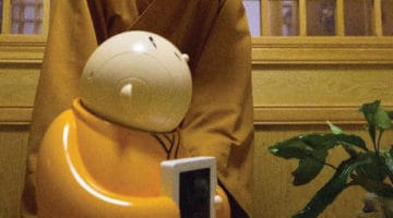 A Buddhist monk robot named Xianer.
