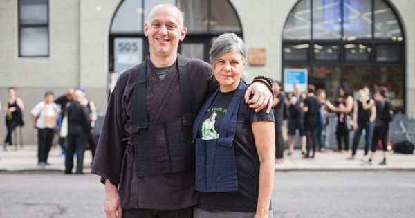Brooklyn Zen Center founders Greg Snyder and Laura O'Laughlin. Photo by A. Jesse Jiryu Davis.