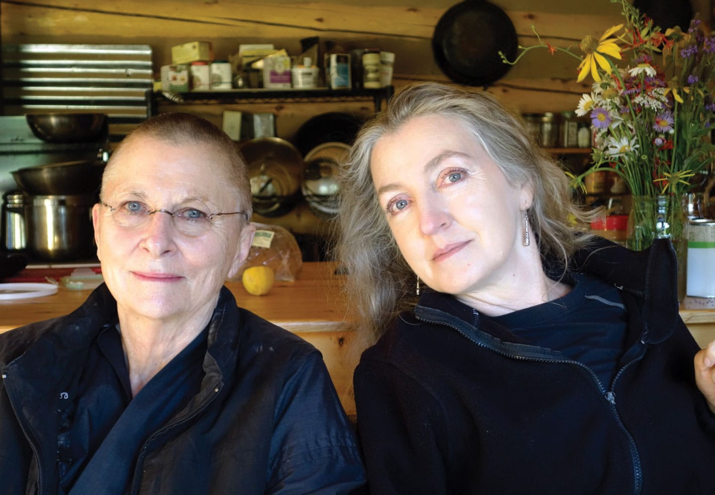 Rebecca Solnit and Roshi Joan Halifax.