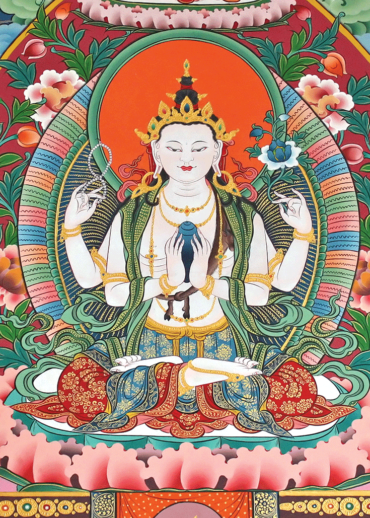 Image of four-armed Avalokiteshvara.