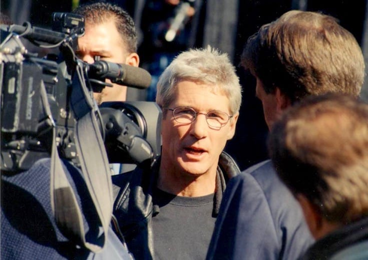 "Richard Gere at a ""Save Tibet"" rally."