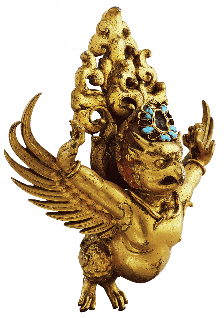 Opposite: Garuda, Nepal 1200–1299 © Collection of Rubin Museum of Art.