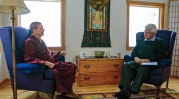 Pema Chodron and Melvin McLeod in conversaiton.