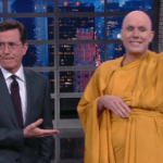 Watch Stephen Colbert clear things up about NYC's fake Buddhist monks