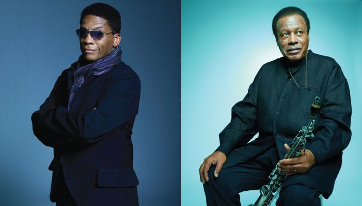 Herbie Hancock (left) by Kwaku Alston. Wayne Shorter (right) by Robert Ascroft.