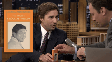"""The Pocket Chogyam Trungpa"" overlaid on Jimmy Fallon talking with Luke Wilson."