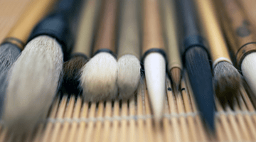 Calligraphy brushes.