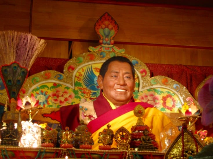 Life-size statue of Khenpo Jigme Phuntsok. Photo by Holly Gayley