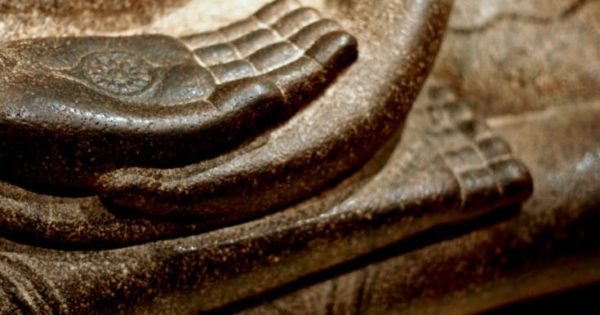 Buddha seated in meditation.