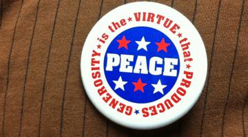 generosity-peace button