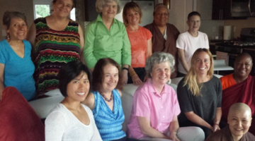 Buddhist women teachers and leaders gathered at August 15th's meeting.