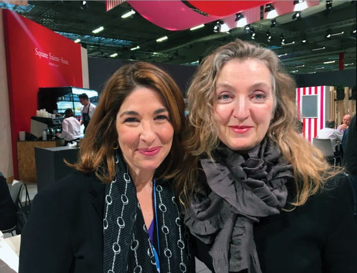 Rebecca Solnit with author Naomi Klein at the Paris climate talks.