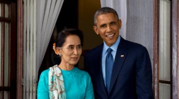 Obama and Aung San Suu Kyi.