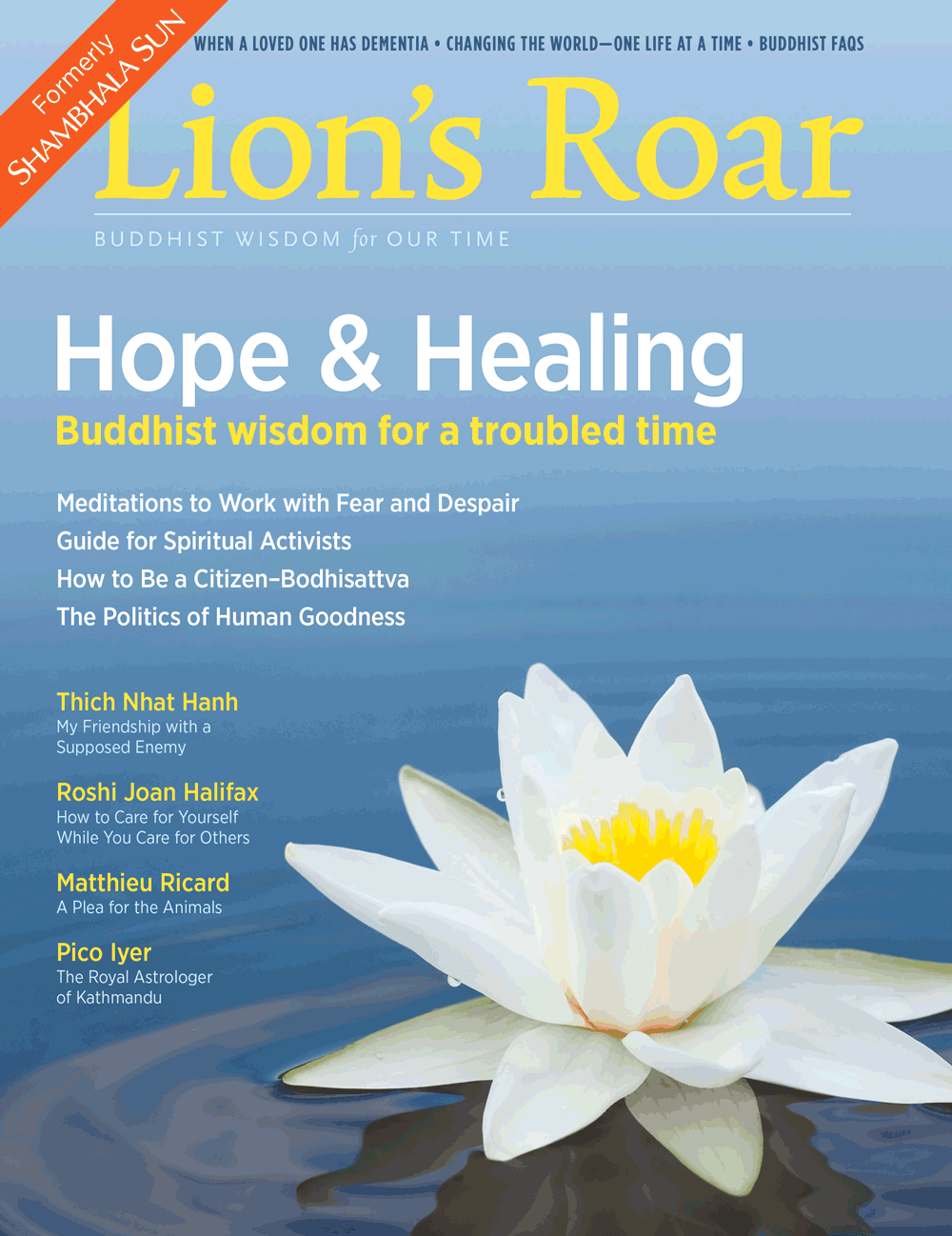 Inside the november 2016 lions roar magazine lions roar the november 2016 lions roar magazine formerly known as the shambhala sun is now available featuring buddhist wisdom that offers hope and healing for izmirmasajfo