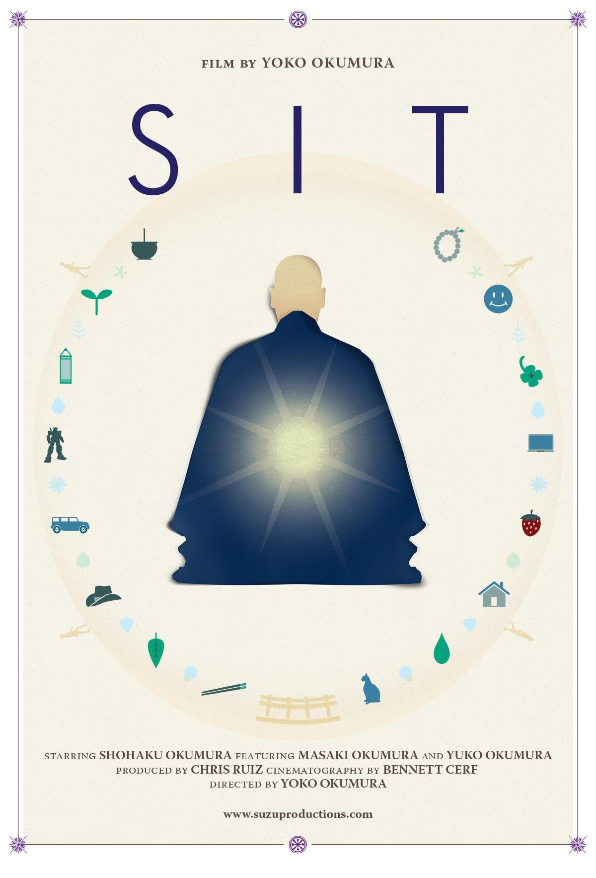 The poster for Yoko Okumura's short documentary, SIT.