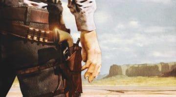 Western gunslinger dueling.
