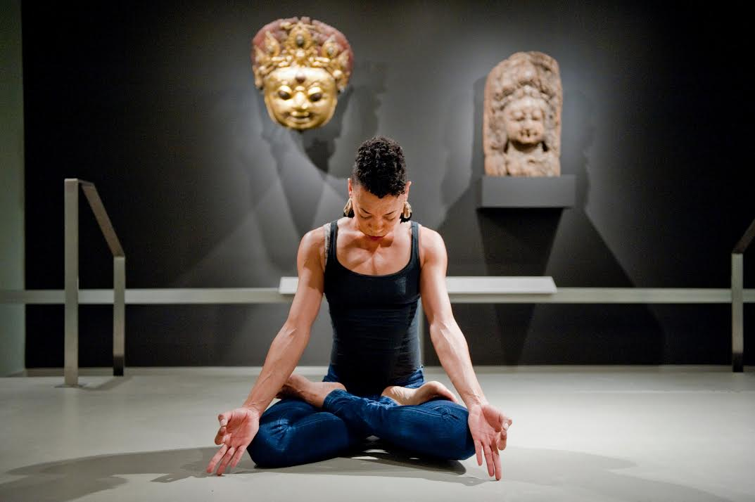 """""""Election Exhale"""" is part of an ongoing weekly series of meditations at New York's Rubin Museum of Art. Photo by Michael Palma."""
