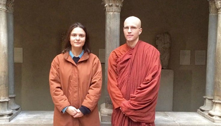 Bhante Suddhaso and Giovanna Maselli.
