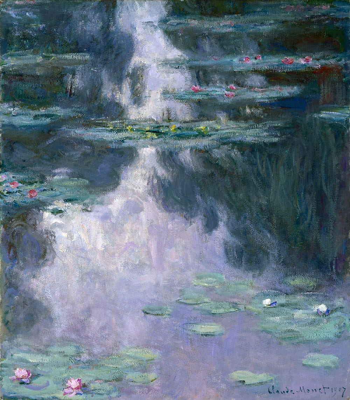 Claude Monet Water Lilies (Nymphéas), 1907. Oil on canvas. Museum of Fine Arts, Houston Gift of Mrs. Harry C. Hanszen. Courtesy Bridgeman Images.