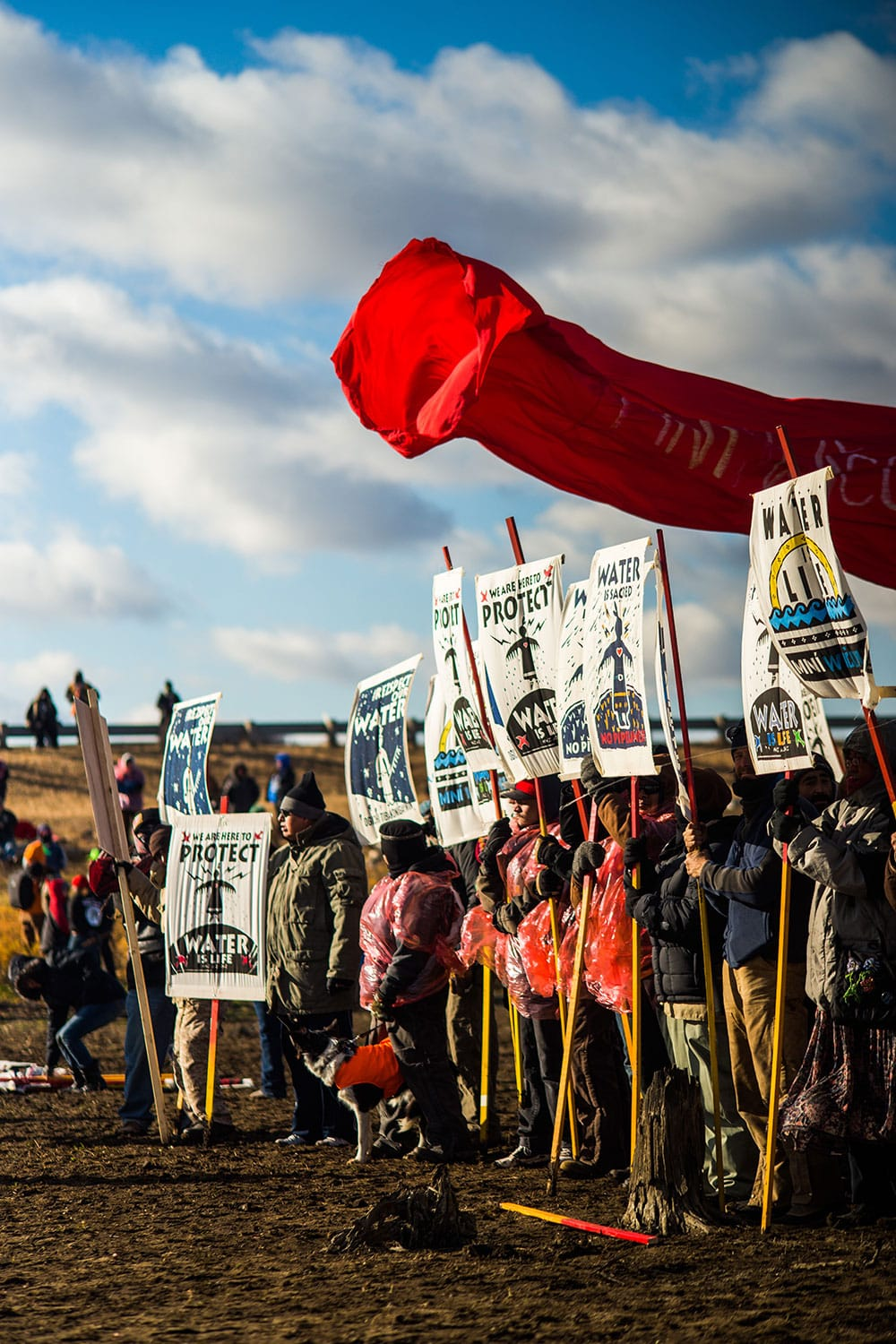 Protesters at the Oceti Sakowin camp at Standing Rock. Photo by Lucas Zhao.