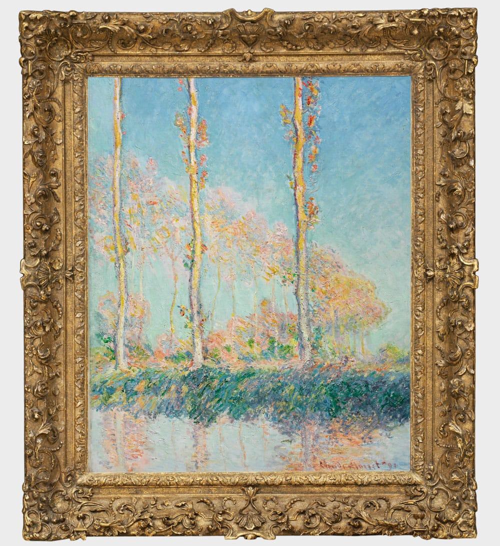 Claude Monet, Poplars (Peupliers), 1891. Oil on canvas. Philadelphia Museum of Art: The Chester Dale Collection, 1951. Courtesy the Philadelphia Museum of Art.