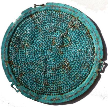 Blanchet's trash-to-treasure mandala. Photo courtesy of the author.