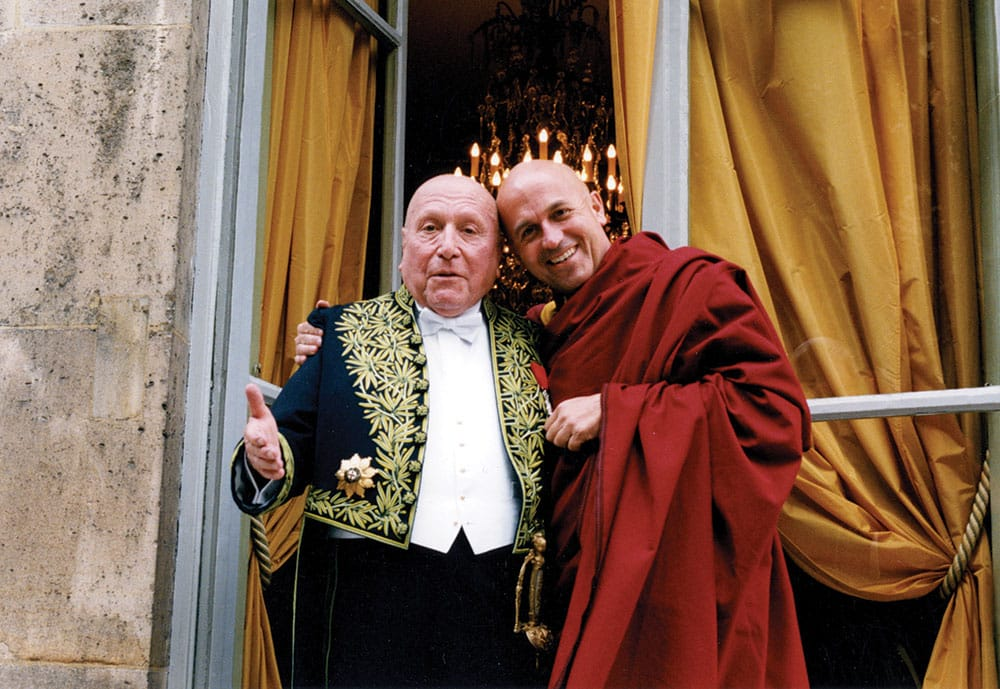 Ricard with his father, the philosopher Jean-Francois Revel, on the day of Revel's reception at the French National Academy in Paris.