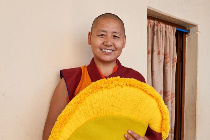 Tenzin Kunsel, Dolma Ling nunnery (nun from Tibet)