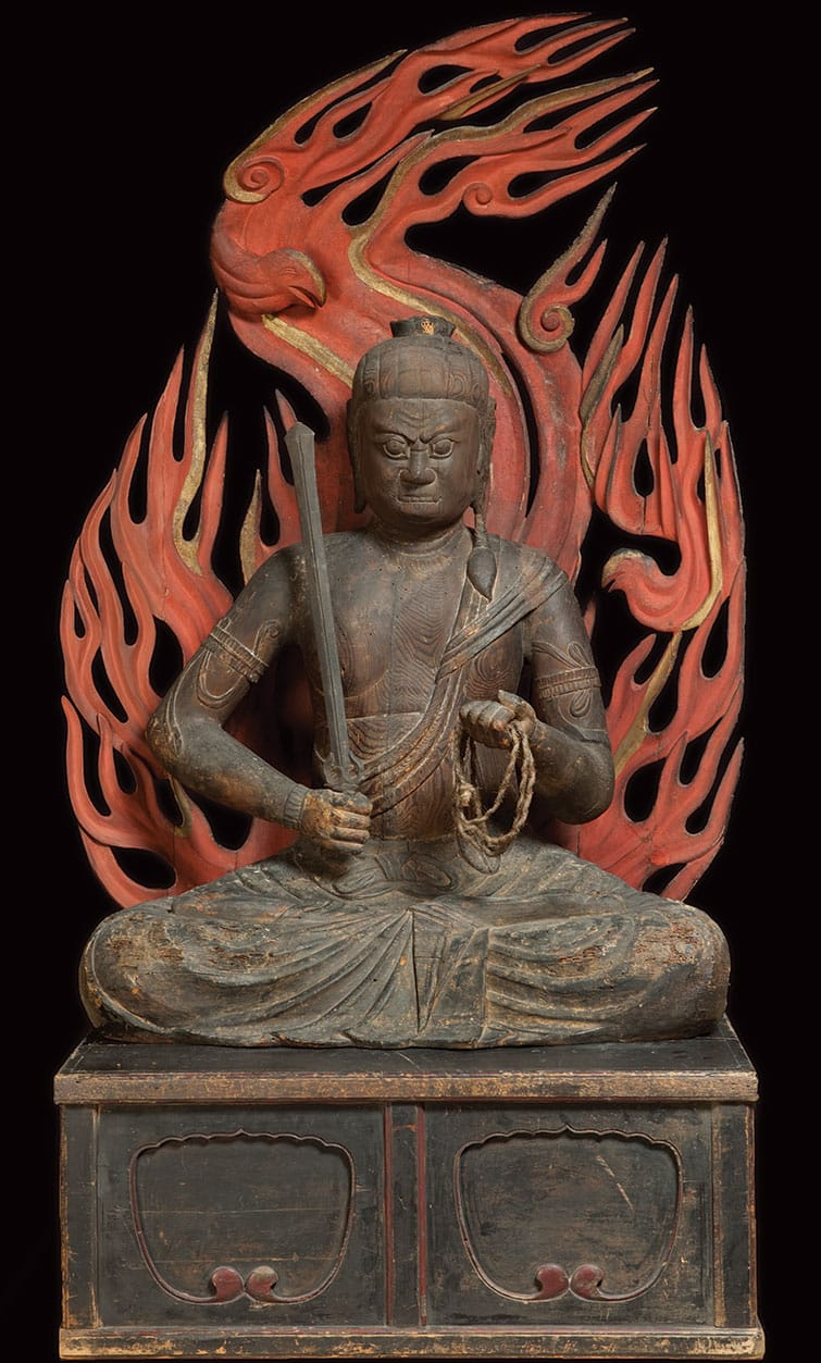 The protector Fudo statue, 12th century japan.