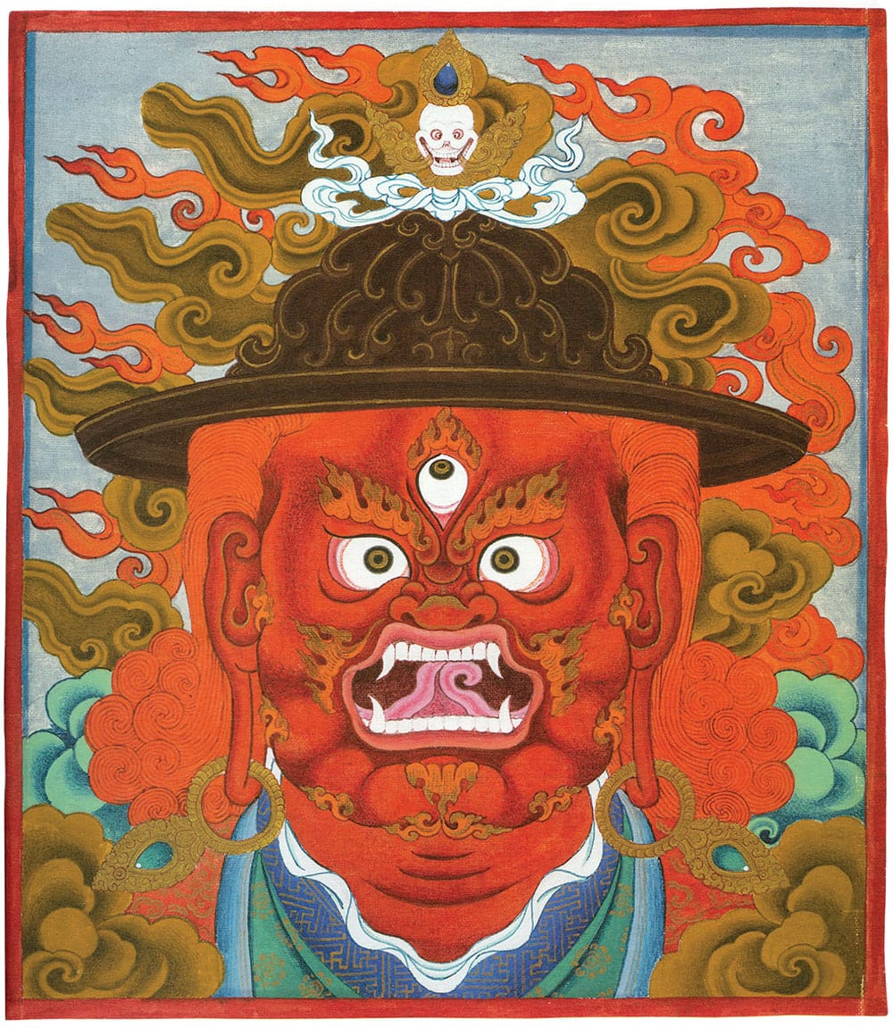 The protector Vajrasadhu, painted by Chögyam Trungpa Rinpoche. Used by permission of Diana J. Mukpo.