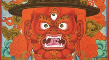 The protector Vajrasadhu, painted by Chögyam Trungpa Rinpoche.
