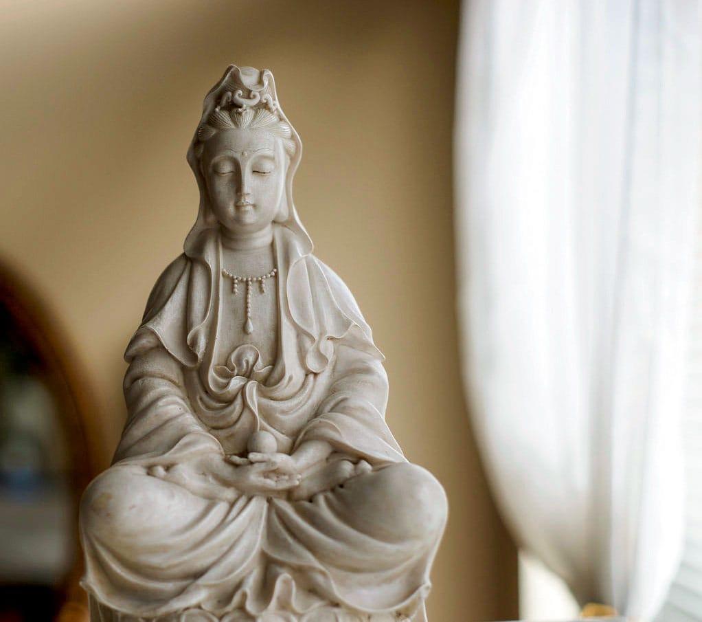 Kwan Yin statue.