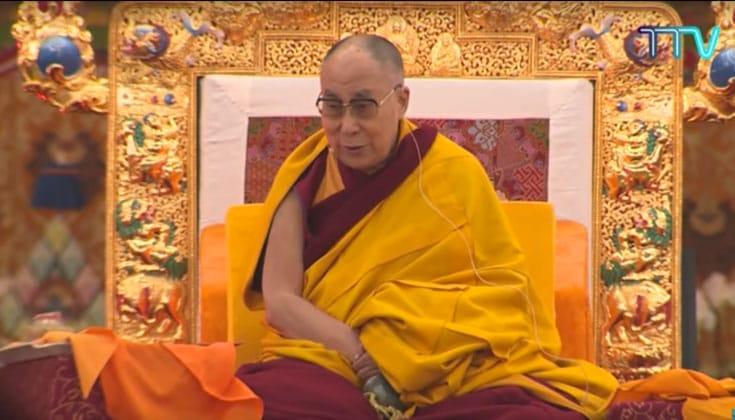 His Holiness the 14th Dalai Lama on the final day of the Kalachakra
