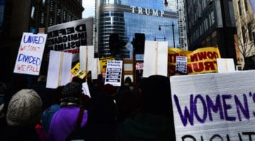 Protestors on their way to Trump tower in Chicago, IL on November 19, 2016. Photo by Ben Alexander.