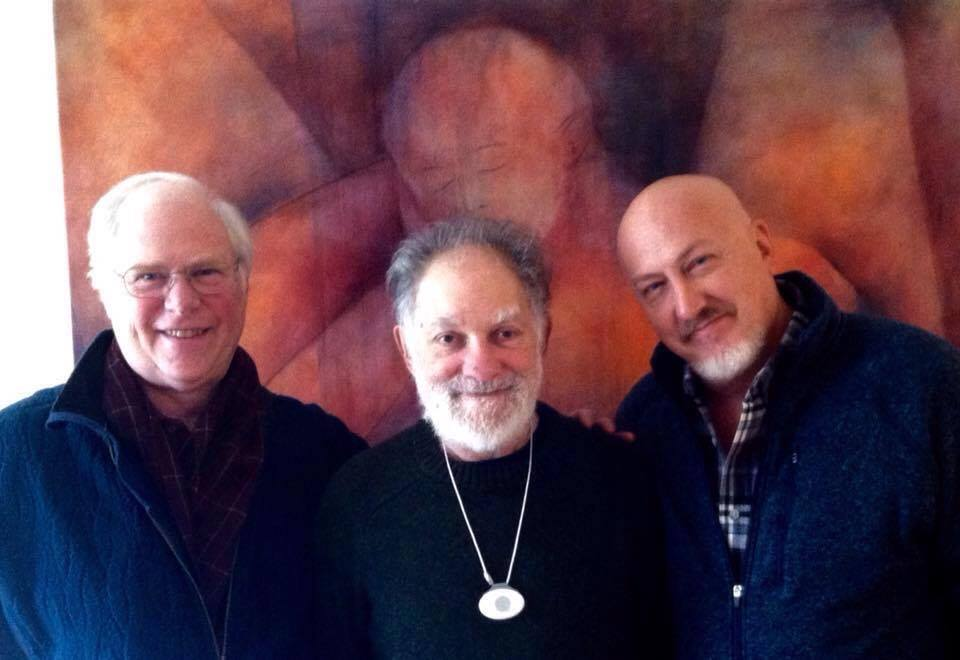 Bernie Glassman (center), flanked by Chris Queen and Tony Stultz.