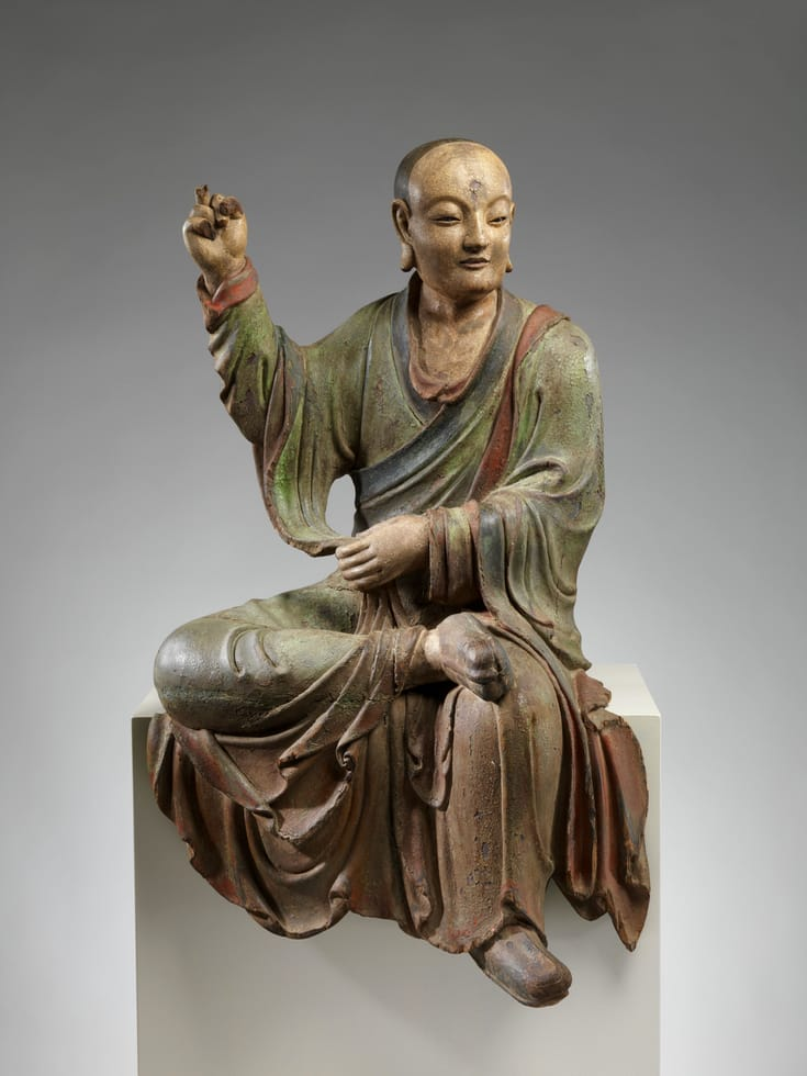 Chinese sculpture of one of the Buddha's arhats