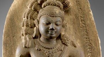 Vajrapani Bodhisattva standing.
