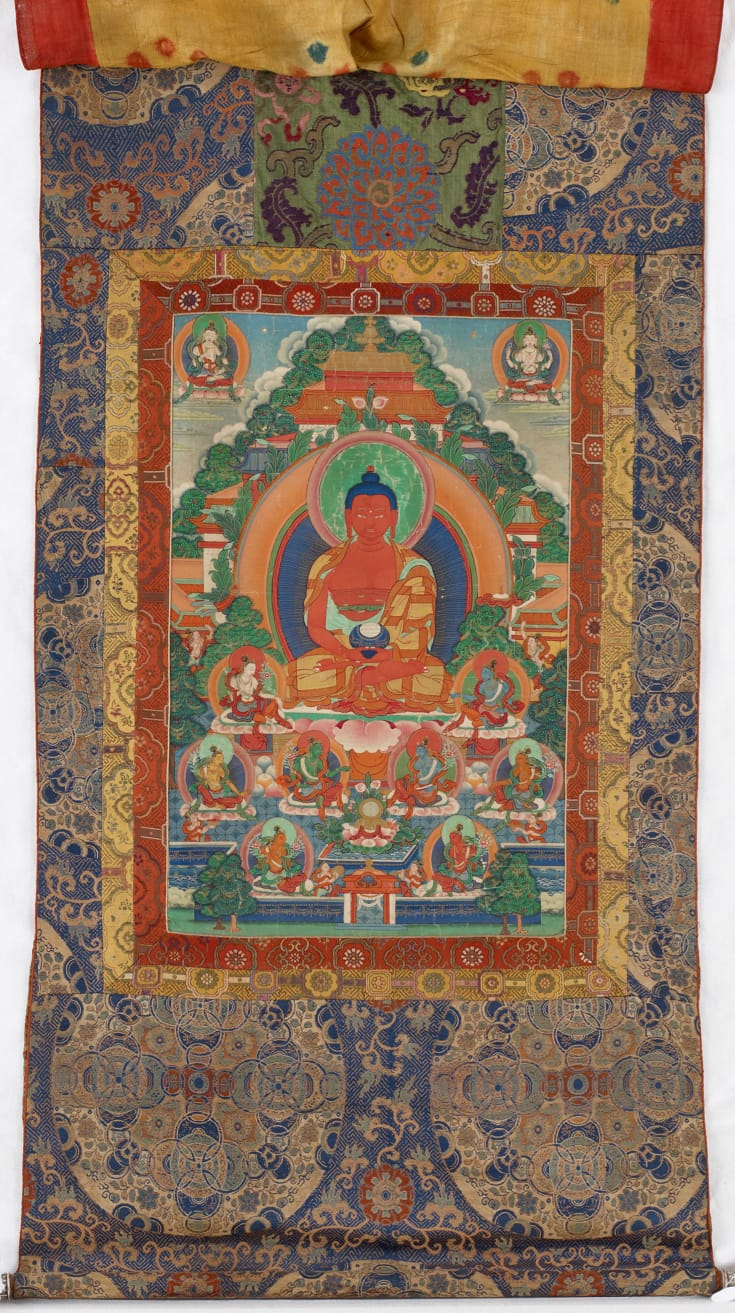 Thangka of the Buddha Amitabha.