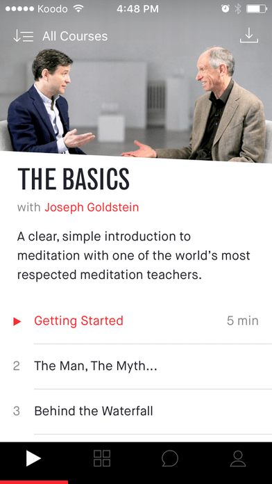 10% happier meditation screenshot